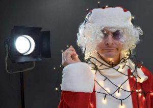 Nikolausmann mit Lichterkette