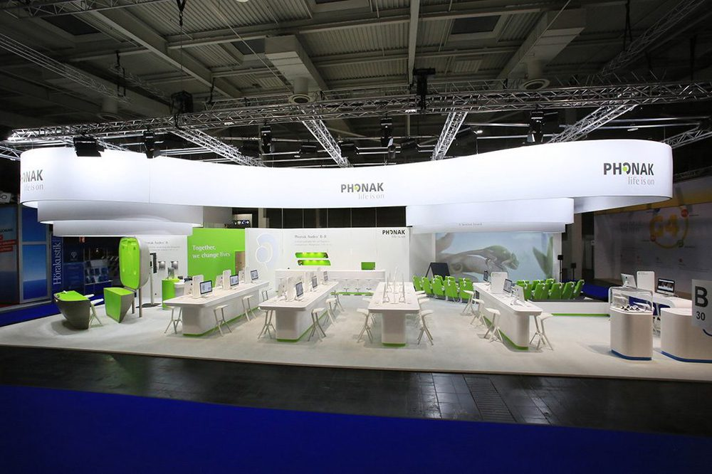 Phonak Messestand von Artlife