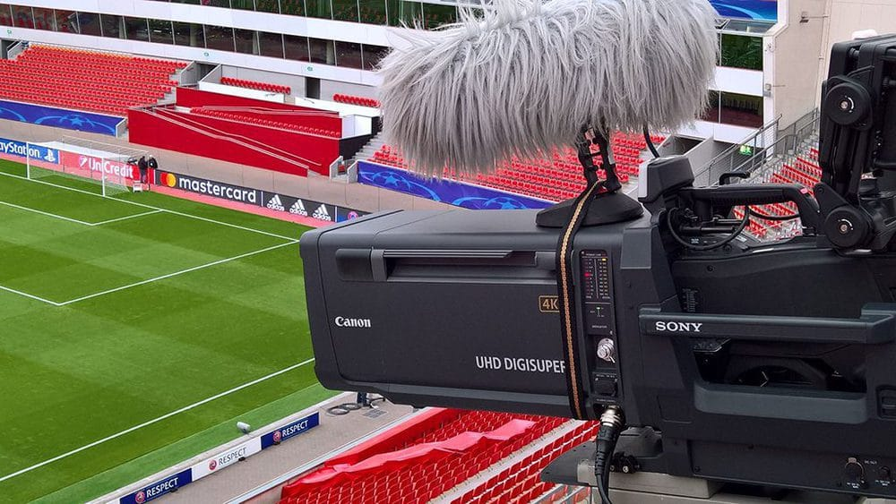 Sony Equipment in der BayArena Leverkusen