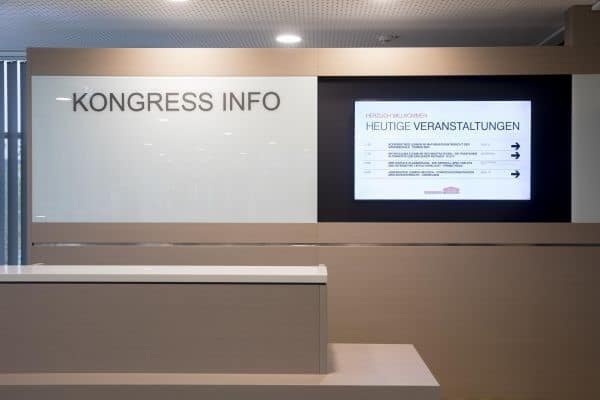 Digital Signage im Kongresszentrum der Westfalenhallen Dortmund