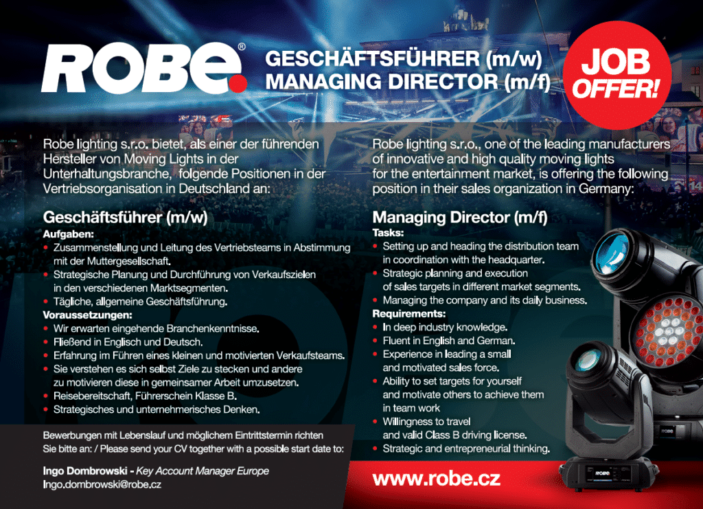 Robe sucht einen Managing Director