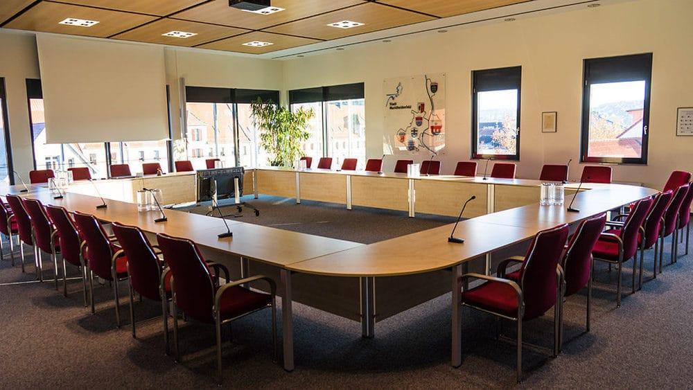 Der Sitzungssaal des Rathauses Marktheidenfeld