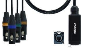 Cordial Ethercon Quad DMX Adapter