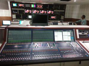 Fernsehregie auf Grundlage von Lawo-Mischpult-Technologie