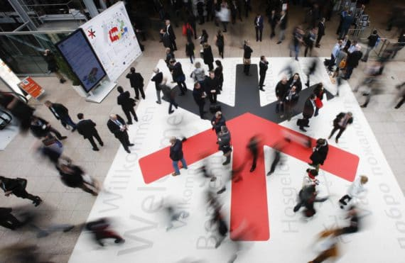 Duesseldorf, DEU. 18.02.2014. EuroShop 2014, The World´s Leading Retail Trade Fair, vom 16. bis 20. Februar Maerz 2014 in Duesseldorf. Die EuroShop ist sowohl die weltweit groesste Investitionsguetermesse fuer den Handel und seine Partner, als auch eine unerlaessliche Plattform fuer Zukunftstrends,  Visionen und Retail-Impressionen zum Anfassen. Mit 115.472 m² Netto-Ausstellungsflaeche und 2.226 Ausstellern aus 57 Laendern ist sie so gross wie nie zuvor. Die diesjaehrige EuroShop in ihrer 45 jaehrigen Geschichte: ueber 2.000 Aussteller aus 53 Laendern praesentieren neueste Produkte, innovative Loesungen und kreatives Design speziell fuer den Handel auf ueber 107.000 Netto-Quadratmetern Ausstellungsflaeche.  EuroShop 2014, The World´s Leading Retail Trade Fair, 16 to 20 February 2014 in Duesseldorf. It is both the world's most important capital goods trade fair for the retail trade and its partners and also an indispensable platform for tangible future trends, visions and impressions. With 115.472 m² net exhibitions space and 2.226 exhibitors from 57 countries, EuroShop 2014 will be bigger than ever before. Foto: Constanze Tillmann, Exploitation right Messe Duesseldorf, M e s s e p l a t z, D-40474 D u e s s e l d o r f, www.messe-duesseldorf.de; eine h o n o r a r f r e i e  Nutzung des Bildes ist nur fuer journalistische Berichterstattung, bei vollstaendiger Namensnennung des Urhebers gem. Par. 13 UrhG (Foto: Messe Duesseldorf / ctillmann) und Beleg moeglich; Verwendung ausserhalb journalistischer Zwecke nur nach schriftlicher Vereinbarung mit dem Urheber; soweit nicht ausdruecklich vermerkt werden keine Persoenlichkeits-, Eigentums-, Kunst- oder Markenrechte eingeraeumt. Die Einholung dieser Rechte obliegt dem Nutzer; Jede Weitergabe des Bildes an Dritte ohne  Genehmigung ist untersagt | Any usage and publication only for editorial use, commercial use and advertising only after agreement; unless otherwise stated: no Model release, property release or other third p