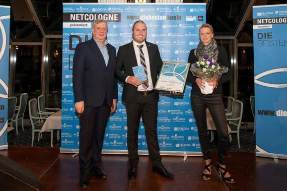 Lothar Jentzsch, Vorsitzender DEHOGA Nordrhein, Jan Nöhre, Geschäftsführer  und Isabelle Gardeweg, Catalogna Cologne Catering