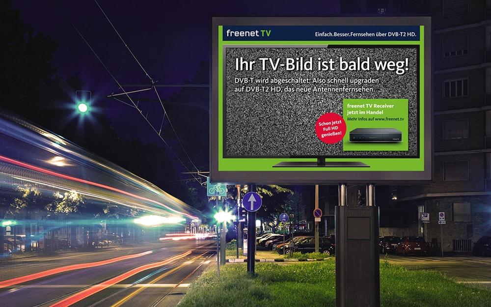 Mediakampagne von Freenet TV