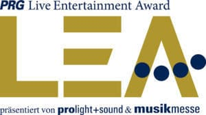 PRG LEA Live Entertainment Award Logo