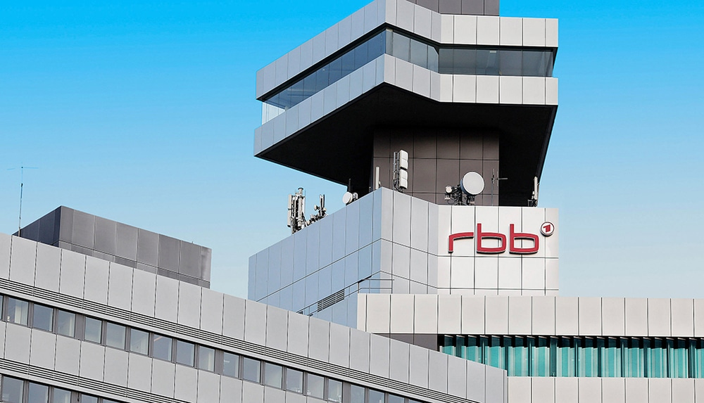 Das Fernsehzentrum des rbb Standorts Berlin
