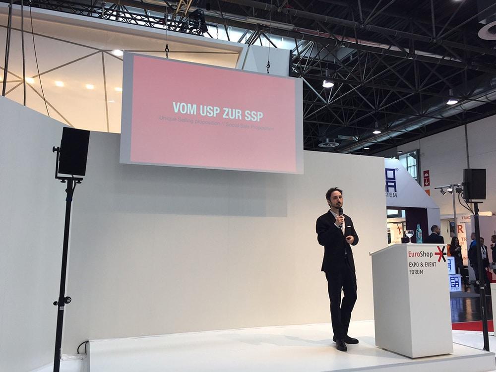Paolo Anania, CEO Granpasso Digital Strategy GmbH, Sprecher auf dem Expo & Event Forum, EuroShop 2017