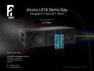 Am 17. März veranstaltet Alcons Audio den Alcons LR18 Demo Day im Berliner E-Werk.