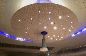 Das Deckengewölbe des Großen Saals in der Elbphilharmonie.
