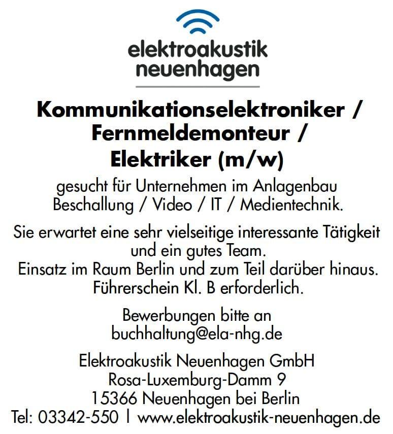 Elektroakustik Neuenhagen