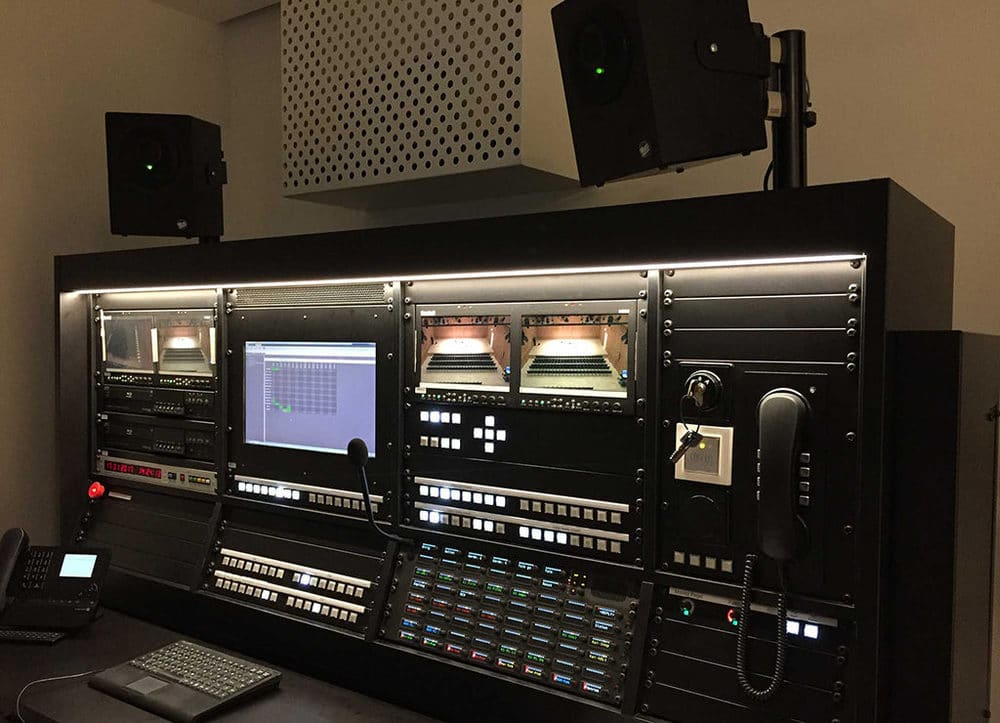 Inspizientenpult von ASC in der Hamburger Elbphilharmonie
