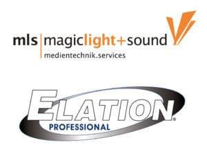 Logo von mls magic light sound und Elation Professional