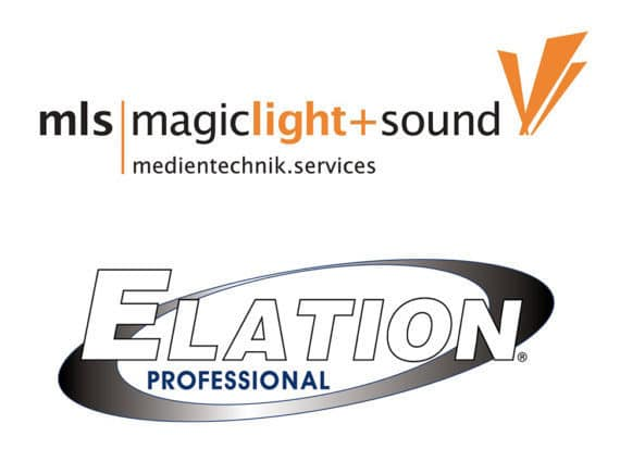 Logo von mls magic light sound und Elation Professional