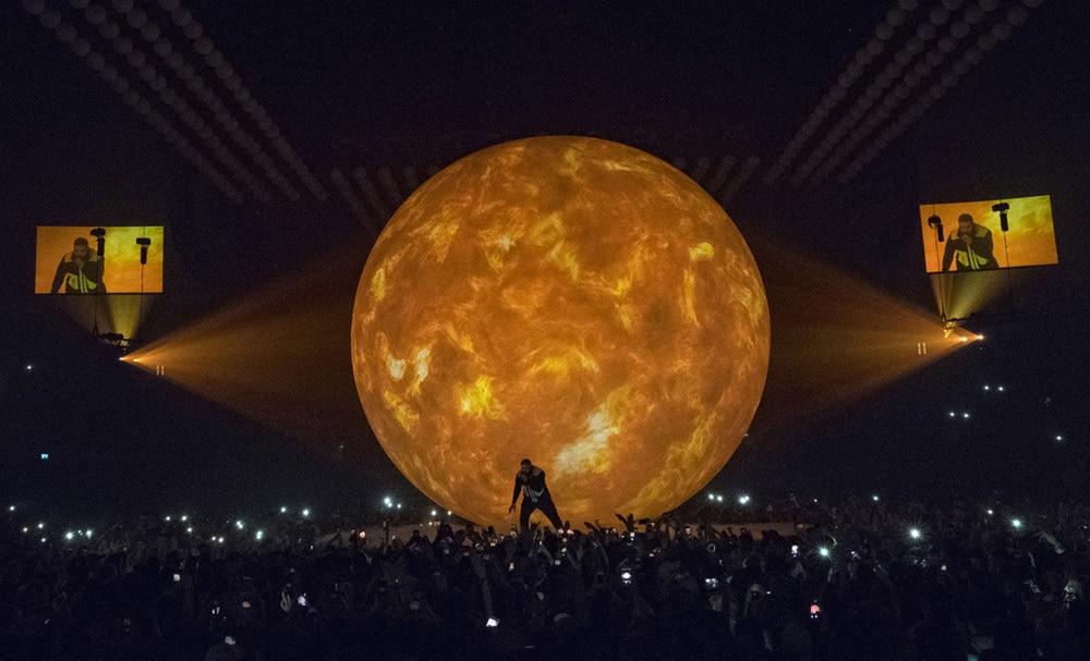 Drake-Tour, unterstützt von PRG XL Video