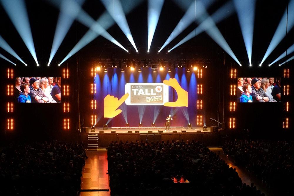 contour Veranstaltungsservice GmbH war technischer Fullservice-Dienstleister für Comedy-Star Chris Tall