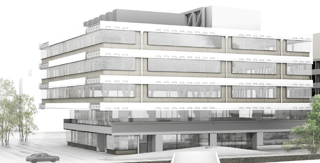 Visualisierung des Technikcenters in Zürich