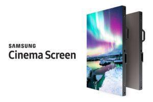 Auf einer Fläche von 10,24m x 5,4m (455 Zoll) kann der Samsung Cinema Screen Filme in 4K-Auflösung wiedergeben.