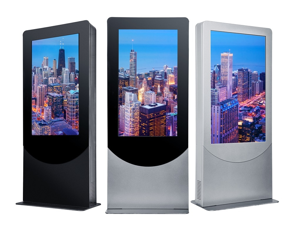 "Experience the elegance of Peerless-AV's new indoor Portrait Kiosk, designed to support the latest LED displays and touchscreen panels up to 4"" deep. With a flat base that can be free standing or bolted to the ground, the kiosk allows for electric and data cable access, making it easy to install and maintain. Plus, the kiosk includes two whisper-quiet, thermostat-controlled exhaust fans to ensure the display and internal components are kept at an optimal temperature. To maintain a clean aesthetic, the kiosk offers an internal tray for media players and cables, as well as lift off, bi-level rear doors that provide direct access to parts requiring maintenance. For theft protection, the kiosk features keyed-alike cam locks specific to the kiosk. From entertaining to wayfinding, the new kiosk is an ideal solution for various indoor application settings, including corporate, retail, and hospitality."
