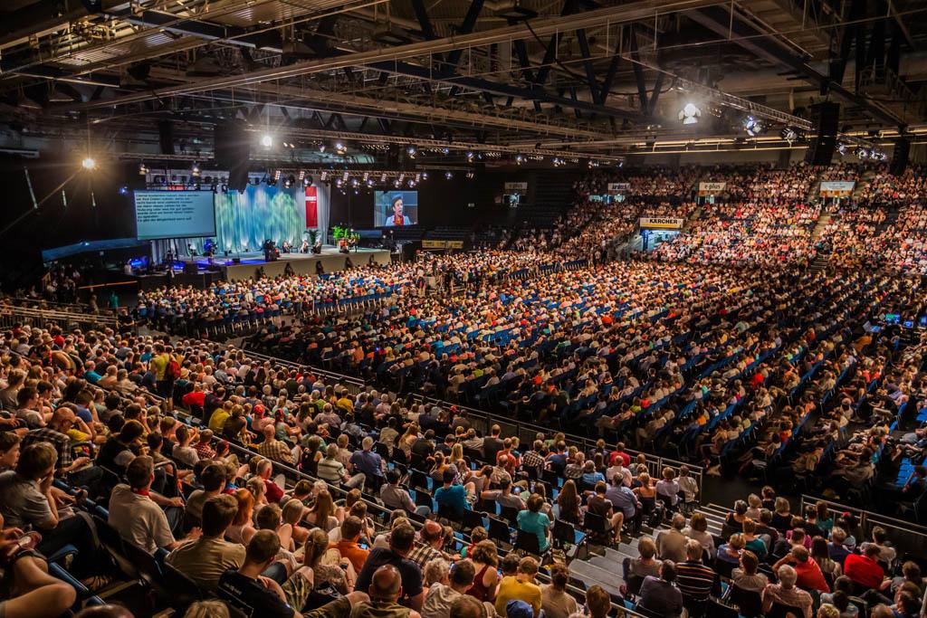 Deutscher Evangelischer Kirchentag 2015 in der Hanns-Martin-Schleyer-Halle in Stuttgart