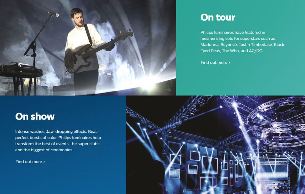 Webseite von Philips Lighting