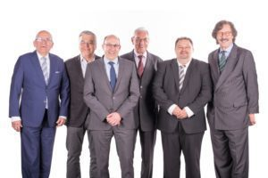 L-R: Prof. Dr. Jörg Knoblauch, Richard Nestel, Jochen Schwarz, Heinz Schwarz, Uli Haug, Winfried Baumbach.