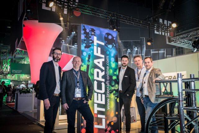 Marc Petzold (Geschäftsführer LMP), Marijn Maas (Account Manager Full AVL), Oliver Winkler (Produktmanager LMP), Mischa Woudenberg (Sales & Support Full AVL), Patrick Leijten (Geschäftsführer Full AVL) (v.l.n.r.)