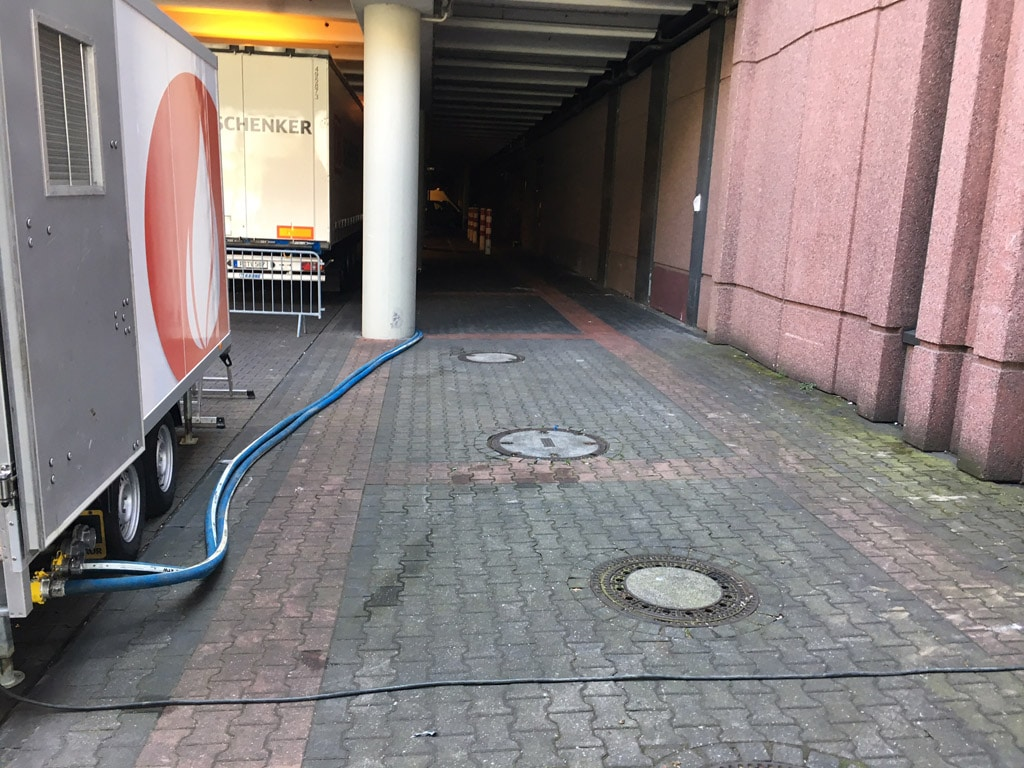 Hotmobil sorgt für warmes Wasser auf der FIBO 2017