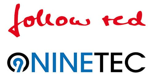 Logos Follow Red und Ninetec