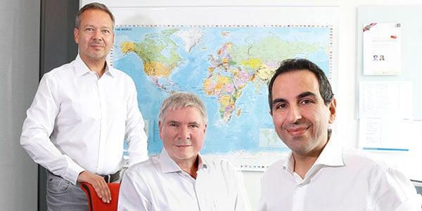 Markus Jahnel, Bodo Falkenried und Alessio Foti