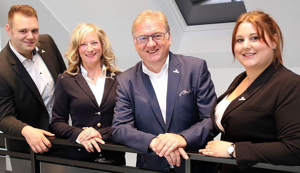 Sven, Christina, Frank und Gina Schwarz (v. l.) stehen hinter dem Markenzeichen FSGG.