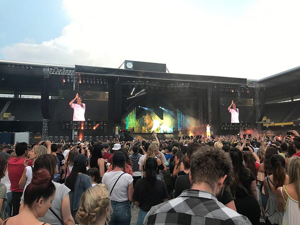 Justin Bieber bei seinem ausverkauften Konzert in Bern.