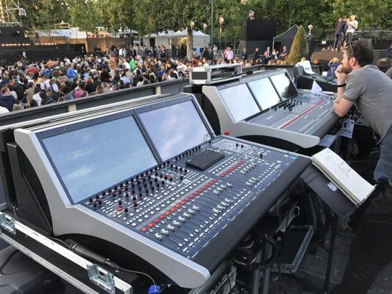 Lawo Pult beim Concert de Paris im Einsatz