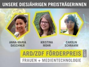 Zwei Absolventinnen der HTWK Leipzig und eine der TU Ilmenau