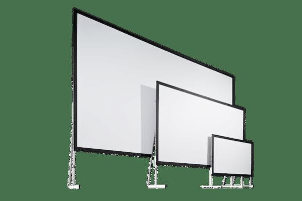 Das Mono Clip Leinwandsystem von AV Stumpfl