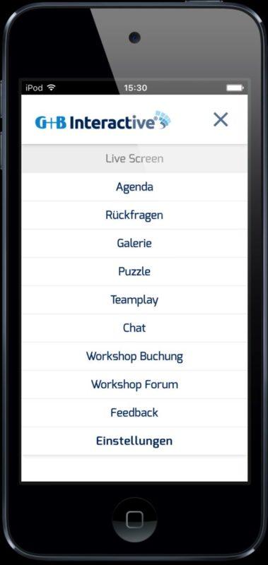 Die neue Interactive Event App von Gahrens + Battermann