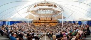Das Benedict Music Tent auf dem Aspen Music Festival