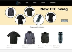 ETC Swag Store Website