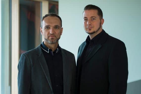 Nik Gledic und Marc Nesselhauf von Shure