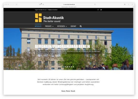 Website von Studt Akustik
