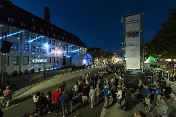 Videomapping-Show beim Hessentag 2017