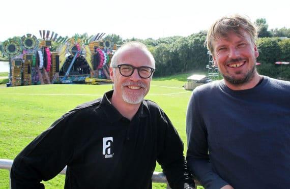 Tom Back (Alcons) und Jurjen Hesseling (Jurlights)
