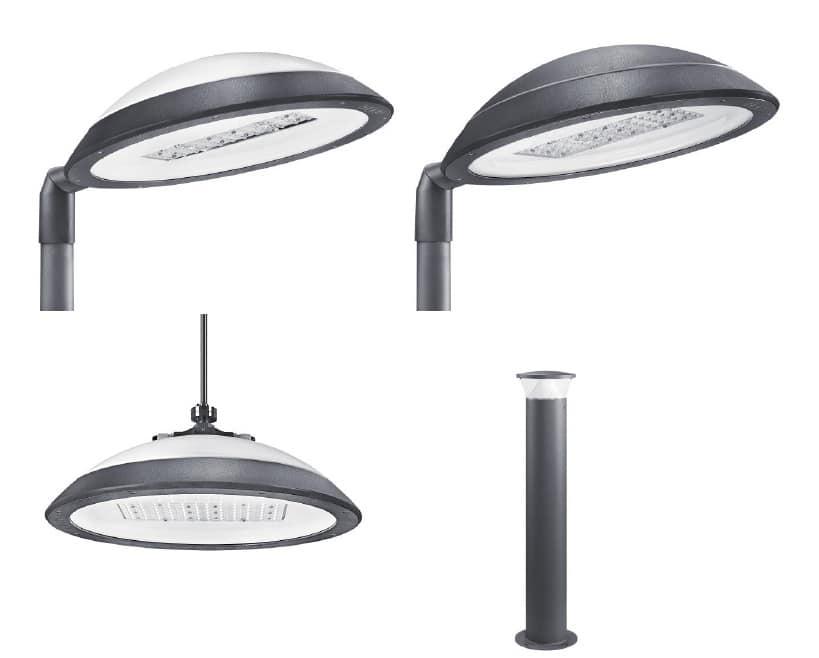 Die Auswahl an verschiedenen Leuchten und Poller sind ideal geeignet für Anwendungen im städtischen Umfeld.