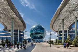 Die Astana Sphere bei der EXPO Weltausstellung in Kasachstan.