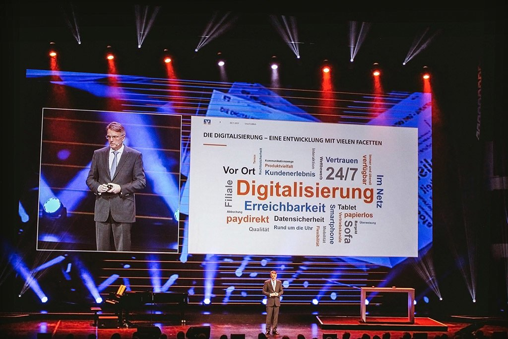 PINK Event Service inszeniert Festakt zum 150. Geburtstag der Volksbank Baden-Baden Rastatt eG.