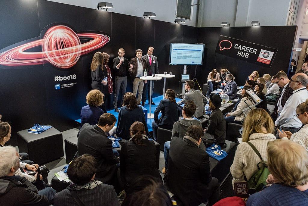 Der Career Hub auf der Best of Events International 2018.