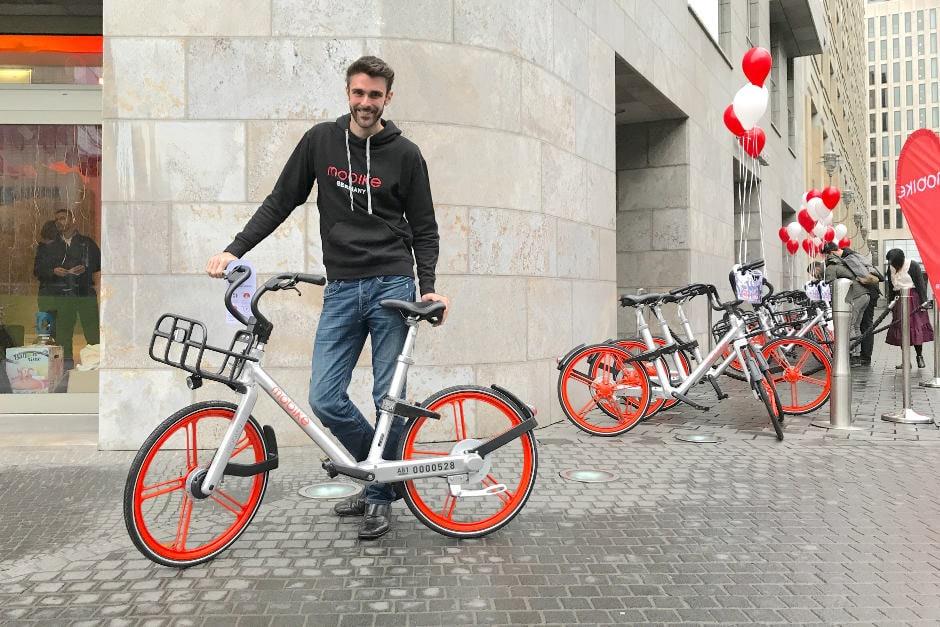 Chris Martin von Mobike beim Launch in Berlin.