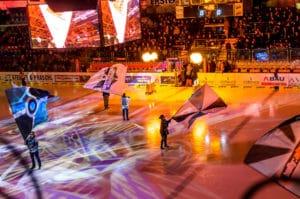 Mythos2 und dot2 core bei Eishockey-Eröffnungsshows